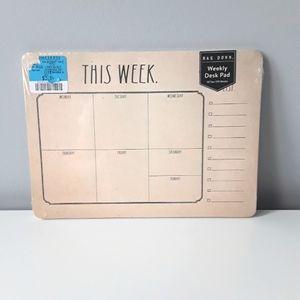 NEW Rae Dunn weekly calendar desk pad